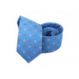 Cravata bleu imprimeu geometric