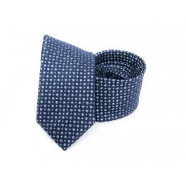 Cravata bleumarin cu buline bleu si puncte albe