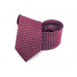 Cravata grena cu buline bleu si puncte albe