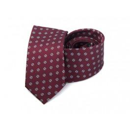 Cravata grena imprimeu floral