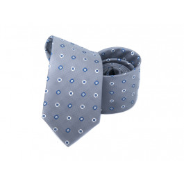 Cravata gri imprimeu geometric