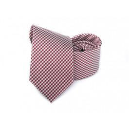 Cravata in carouri grena