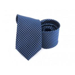 Cravata matase bleumarin cu imprimeu geometric