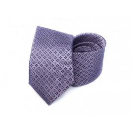 Cravata lila din matase cu imprimeu geometric