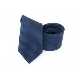 Cravata neagra cu imprimeu bleumarin