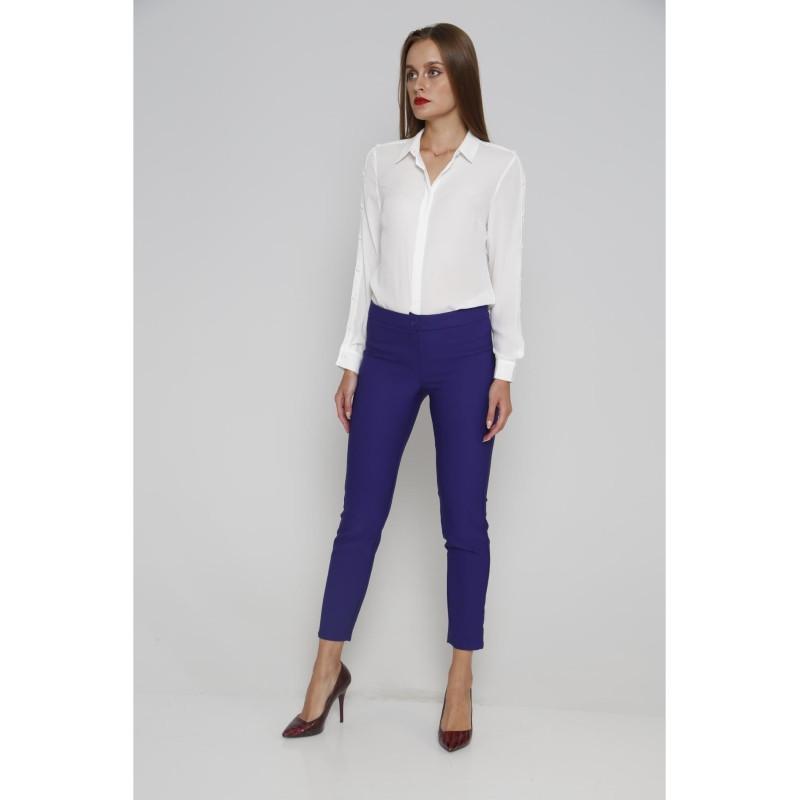 cumpărare acum SUA vânzare ieftină stiluri de moda Pantaloni office dama albastri cu croi mulat si talie medie